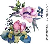 pink floral botanical flower... | Shutterstock . vector #1270168774