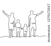 family continuous line vector... | Shutterstock .eps vector #1270172017