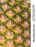 Pineapple texture closeup. Nature background. - stock photo