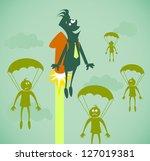 career growth. vector...   Shutterstock .eps vector #127019381