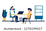 job agency. job interview ...   Shutterstock .eps vector #1270199017