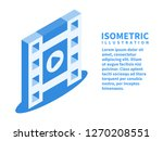filmstrip  play icon. isometric ... | Shutterstock .eps vector #1270208551
