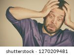 adult man being worried about... | Shutterstock . vector #1270209481