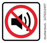 no sound sign   silence symbol | Shutterstock .eps vector #1270212457