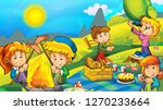 cartoon autumn nature... | Shutterstock . vector #1270233664