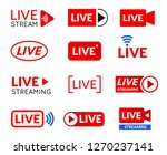 live stream icon set  online... | Shutterstock .eps vector #1270237141