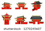 vector  chinese style city ... | Shutterstock .eps vector #1270245607