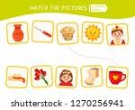 matching children educational... | Shutterstock .eps vector #1270256941