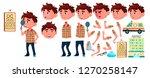 boy kindergarten kid vector....   Shutterstock .eps vector #1270258147