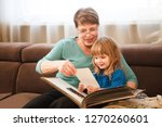 grandmother with child... | Shutterstock . vector #1270260601