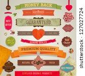 set of vector retro ribbons ... | Shutterstock .eps vector #127027724