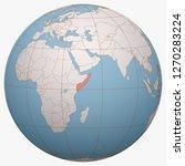 somalia on the globe. earth...   Shutterstock .eps vector #1270283224