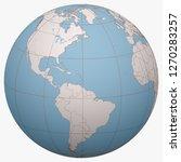 saint vincent on the globe.... | Shutterstock .eps vector #1270283257