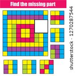puzzle for toddlers. find the...   Shutterstock .eps vector #1270287544