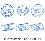 black week stamps | Shutterstock .eps vector #1270288744