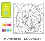coloring page for kids.... | Shutterstock .eps vector #1270290157
