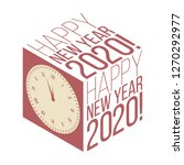 happy new year 2020 banner with ... | Shutterstock .eps vector #1270292977