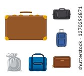 isolated object of suitcase and ... | Shutterstock .eps vector #1270293871