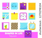 shapes in life. square....   Shutterstock .eps vector #1270298104