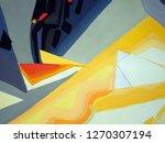 abstract texture. oil  acrylic... | Shutterstock . vector #1270307194