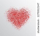 glitter red heart isolated on... | Shutterstock .eps vector #1270312147