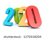 happy new year 2020 colorful...   Shutterstock . vector #1270318204
