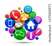 social media concept   vector | Shutterstock .eps vector #1270320571