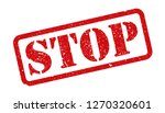 stamp stop sign   vector   Shutterstock .eps vector #1270320601