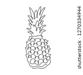 pineapple continuous line... | Shutterstock .eps vector #1270334944