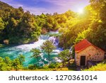 waterfalls krka  national park  ... | Shutterstock . vector #1270361014