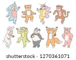 vector kids in fancy dress.... | Shutterstock .eps vector #1270361071