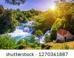 waterfalls krka  national park  ... | Shutterstock . vector #1270361887