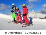 girls on the skiing | Shutterstock . vector #127036631
