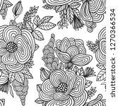 floral seamless pattern. | Shutterstock .eps vector #1270366534