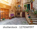 narrow street in historic town... | Shutterstock . vector #1270369597