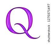 glowing neon purple color shiny ... | Shutterstock . vector #1270371697