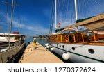 docked ship in port. docking on ... | Shutterstock . vector #1270372624
