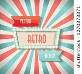 vintage faded background. retro ... | Shutterstock .eps vector #1270373371