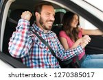 happy smiling couple buying new ... | Shutterstock . vector #1270385017