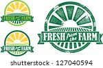 fresh from the farm produce... | Shutterstock .eps vector #127040594