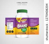 bottle label  package template... | Shutterstock .eps vector #1270408204