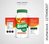 bottle label  package template... | Shutterstock .eps vector #1270408207