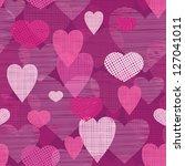 fabric hearts romantic seamless ... | Shutterstock .eps vector #127041011