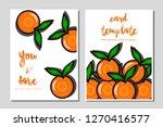card template orange vector...   Shutterstock .eps vector #1270416577