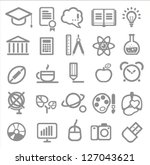 25 school and college icons.... | Shutterstock .eps vector #127043621