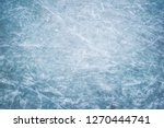blue ice in skate scratches | Shutterstock . vector #1270444741