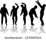 group of men | Shutterstock .eps vector #127045541