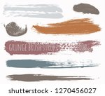 paint lines grunge collection.... | Shutterstock .eps vector #1270456027