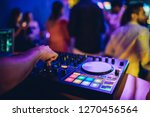 dj plays live set and mixing... | Shutterstock . vector #1270456564