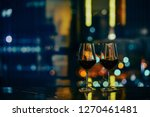 closeup of a glasses of red... | Shutterstock . vector #1270461481